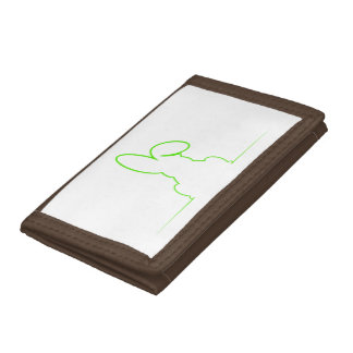 Contour of a hare light green tri-fold wallet