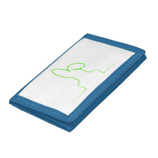 Contour of a hare light green trifold wallet