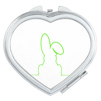 Contour of a hare light green vanity mirror