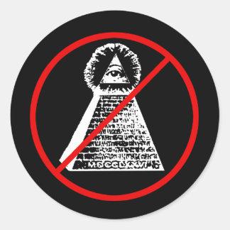 Contra os Illuminati Classic Round Sticker