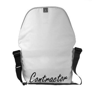 Contractor Artistic Job Design Messenger Bag