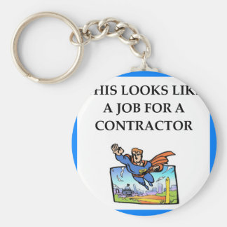 CONTRACTOR BASIC ROUND BUTTON KEY RING