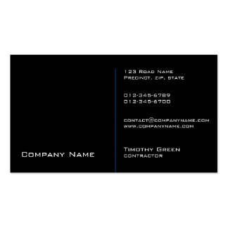 Contractor Construction Trade Skills Black Pack Of Standard Business Cards
