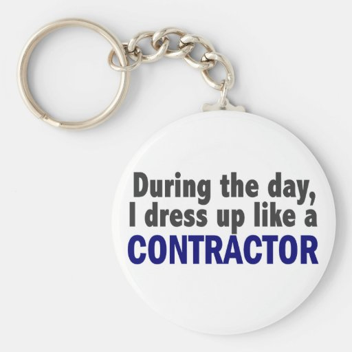 Contractor During The Day Keychains