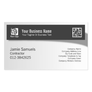 Contractor Professional Trade Skills Shadow Banner Pack Of Standard Business Cards