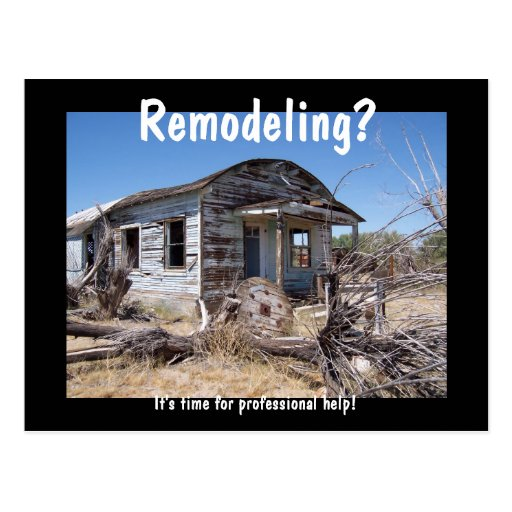 Contractor Remodeling Advertisement Postcards