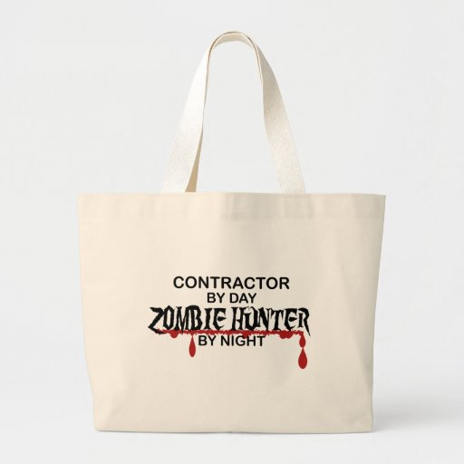 Contractor Zombie Hunter Tote Bag