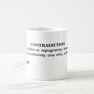 CONTRADICTION COFFEE MUG