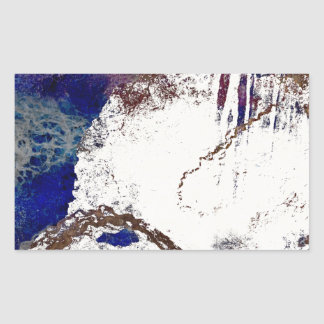 Contradictions Abstract Rectangular Sticker