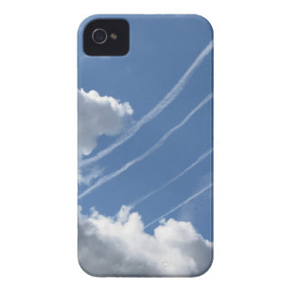 Contrails of aircraft and clouds in the sky iPhone 4 Case-Mate cases