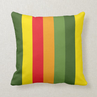 Contrast Color Stripe Pattern Pillow