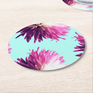 Contrast Floral round coaster
