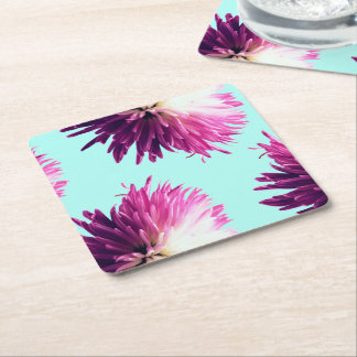 Contrast Floral square coaster