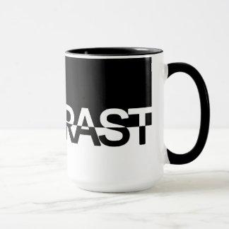 Contrast Typography Mug