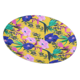 Contrasted Floral Hues by Zala Farah Plate