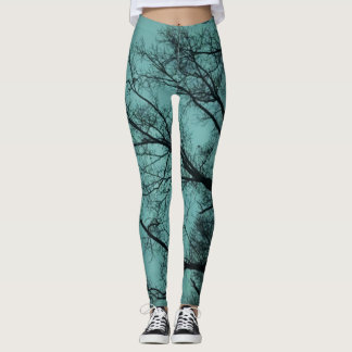 Contrasted Trees Leggings