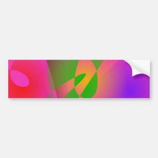 Contrasting Abstract Colors Dark Pink Bumper Sticker