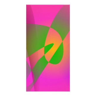 Contrasting Abstract Colors Dark Pink Photo Greeting Card