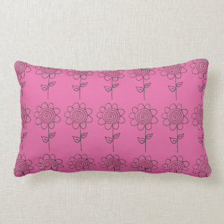 Contrasting Spiral flower Lumbar Cushion