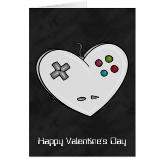 Controller Heart Gamer Valentine Greeting Card