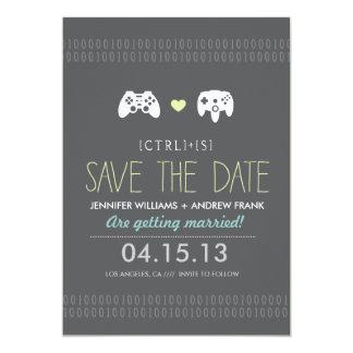 Controller Love Save the Date 13 Cm X 18 Cm Invitation Card