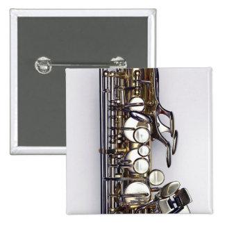 Controls of Saxophone 15 Cm Square Badge
