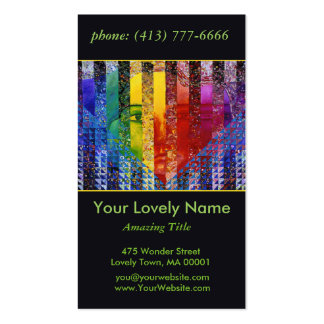 Conundrum I Abstract Rainbow Woman Goddess Collage Pack Of Standard Business Cards