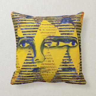 Conundrum II – Golden & Sapphire Goddess Pillow
