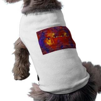 Conundrum III - Abstract Purple & Orange Goddess Sleeveless Dog Shirt