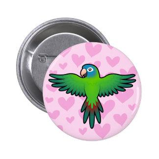 Conure / Lorikeet / Parrot Love 6 Cm Round Badge
