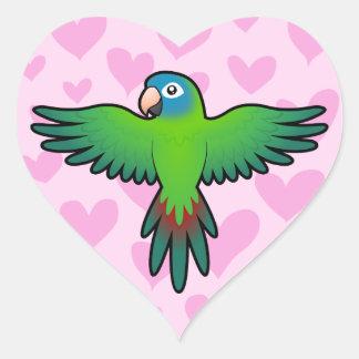Conure / Lorikeet / Parrot Love Heart Sticker
