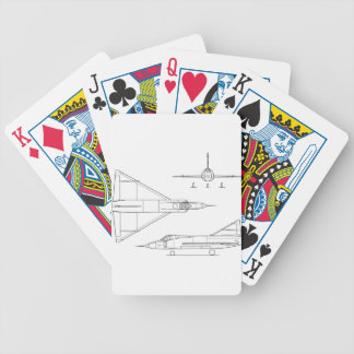Convair_YF-102_Delta_Dagger_3-view Bicycle Playing Cards