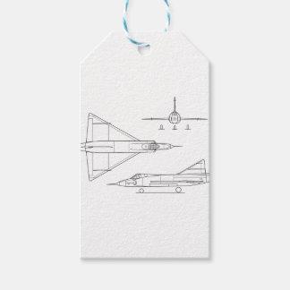 Convair_YF-102_Delta_Dagger_3-view Gift Tags