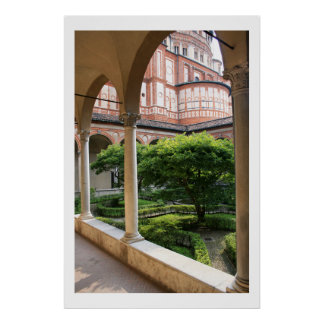Convent Courtyard Poster