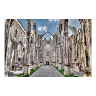 Convento do Carmo, Lisbon Poster