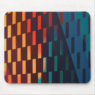 """Convergence"" Colorful Geometric Design - Mouse Pad"