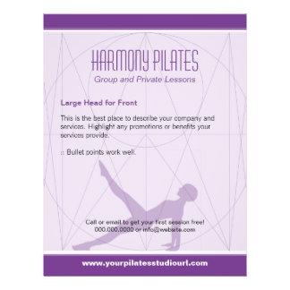 Convergent Lines Purple Pilates Flyer