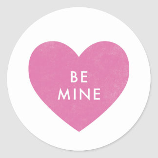 Conversation Heart Sticker - Fuchsia