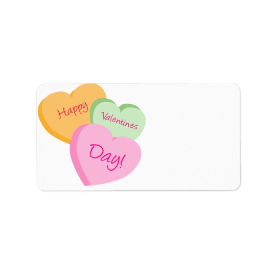 Conversation Hearts Valentine's Day Label Tags