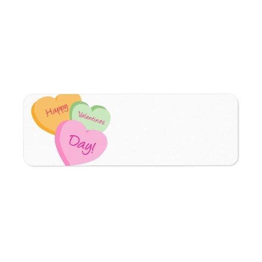 Conversation Hearts Valentine's Day Label Tags Return Address Label