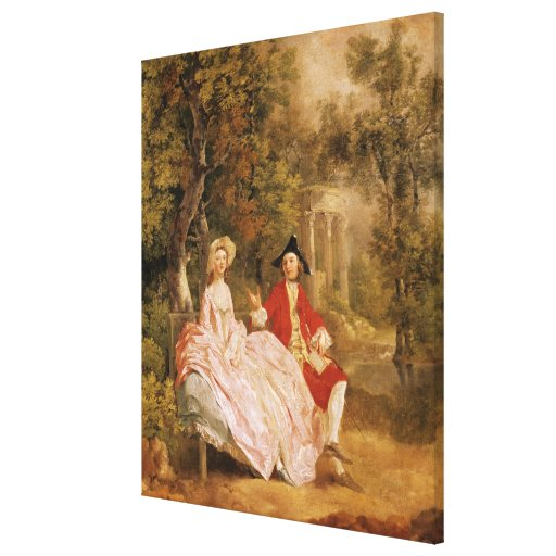 Conversation in a Park, portrait of the artist and Stretched Canvas Prints
