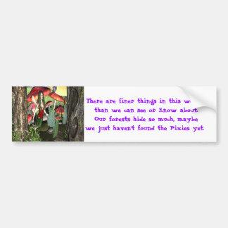 Conversation with lady bug bumper sticker