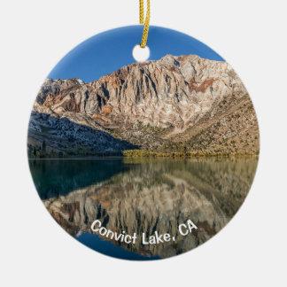 Convict Lake, CA Ceramic Ornament