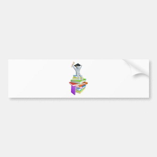Convocation man on books bumper sticker