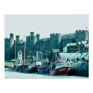 Conway Castle, north Wales, U.K. Postcard