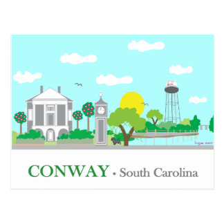 Conway, SC - Charming Postcard