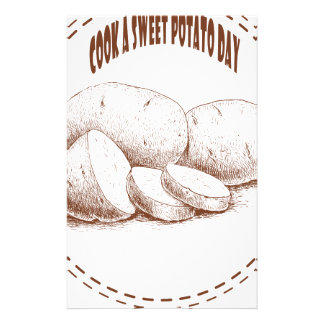 Cook a Sweet Potato Day - Appreciation Day Personalised Stationery