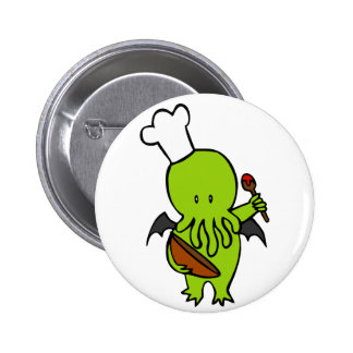 Cook Along With Cthulhu Pinback Buttons