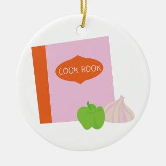 Cook Book Ceramic Ornament