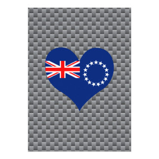 "Cook Island Flag on a cloudy background 5"" X 7"" Invitation Card"